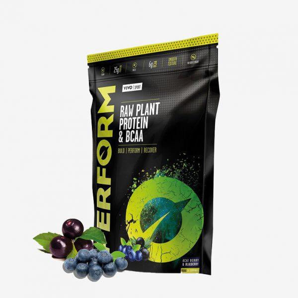 Vivolife Perform veganske beljakovine - Acai/borovnica