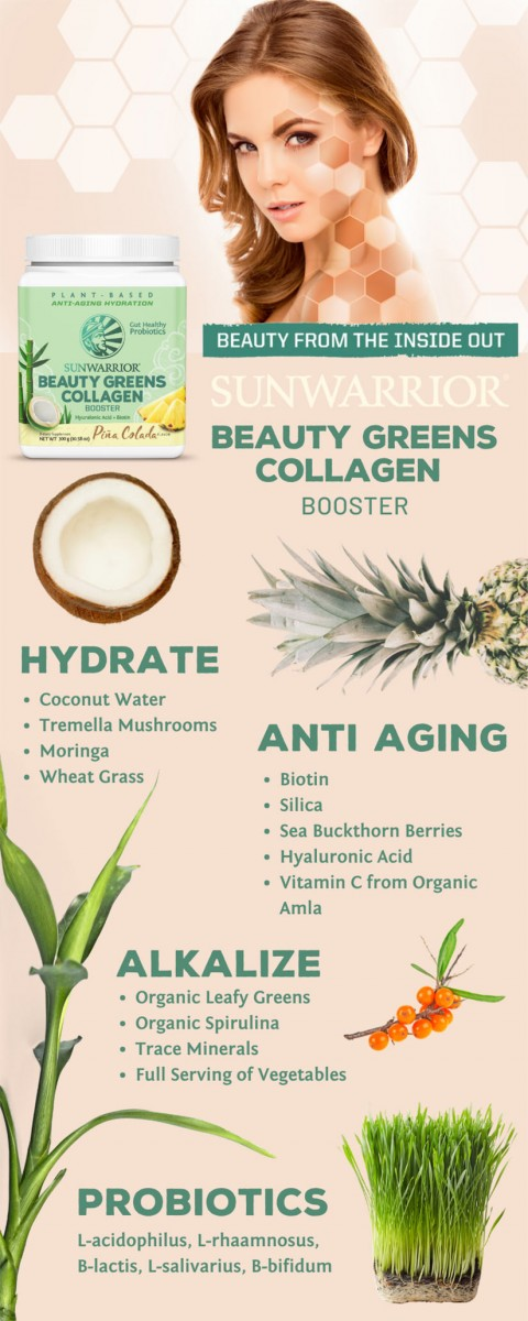 sunwarrior beauty greens kolagen booster